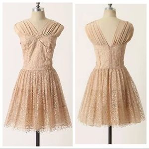 Anthropologie 4 Floral Lace Picture Show Dress